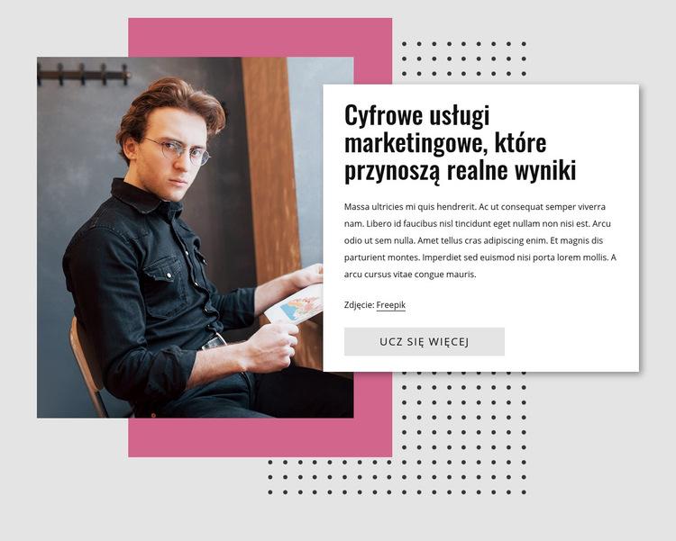 Marketing cyfrowy Szablon witryny sieci Web
