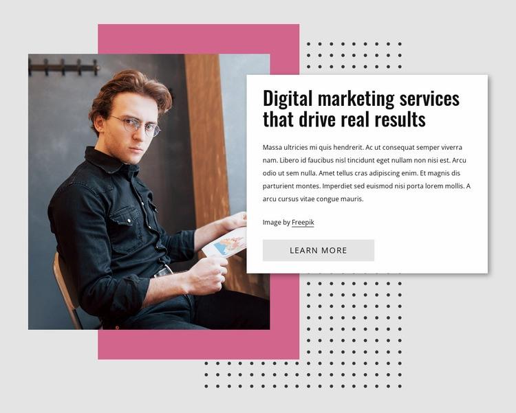 Digital marketing Web Page Designer