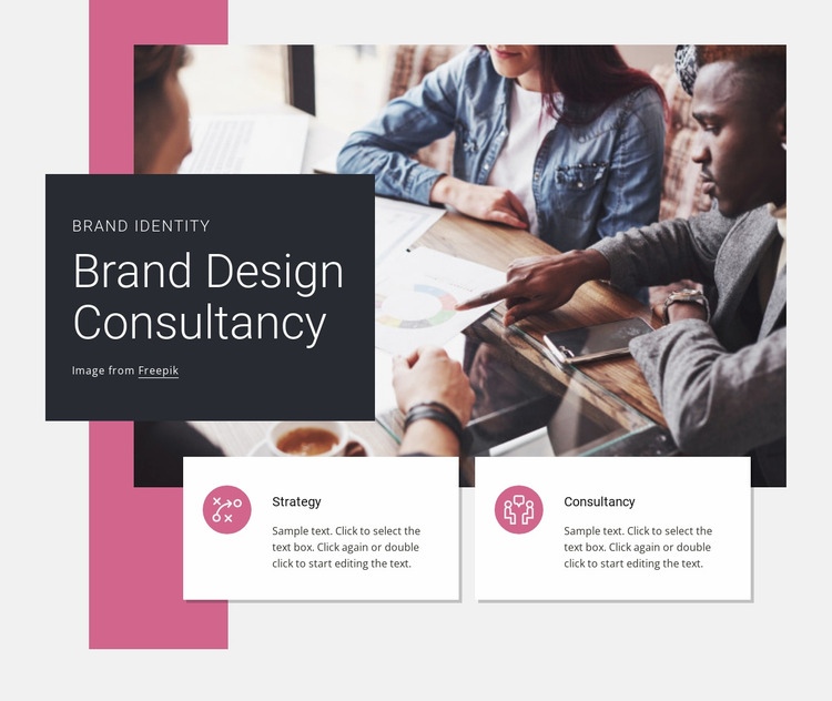Brand design consultancy Website Mockup