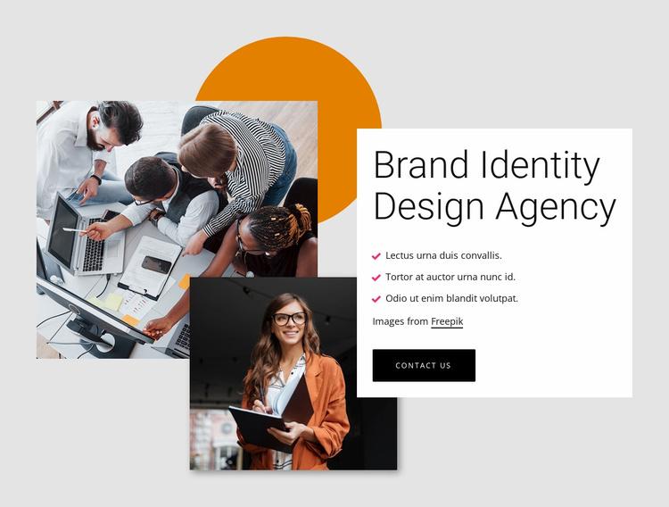 Brand identity design agency Landing Page