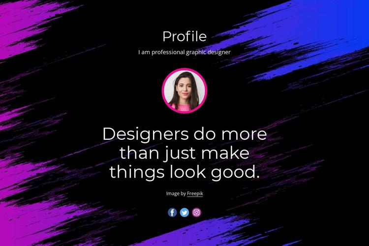 Professional website design HTML Template