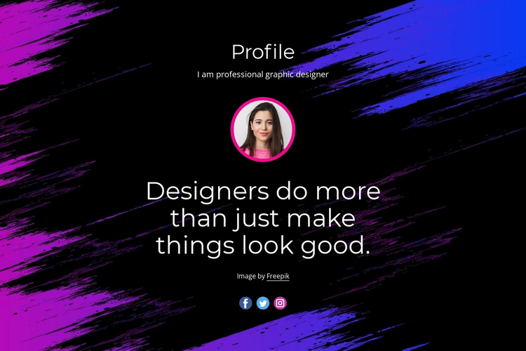 Professional website design One Page Template