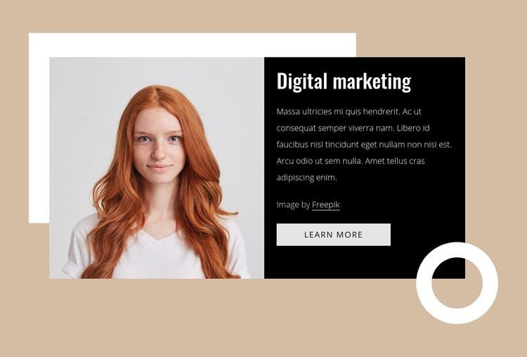 Marketing consultants Web Page Designer