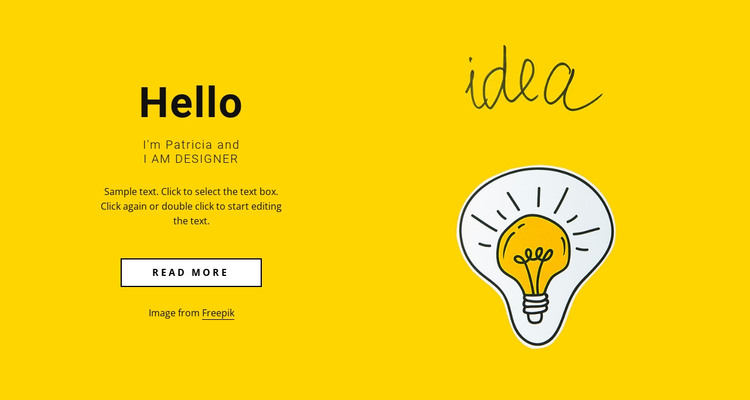Freelance web designer HTML Template