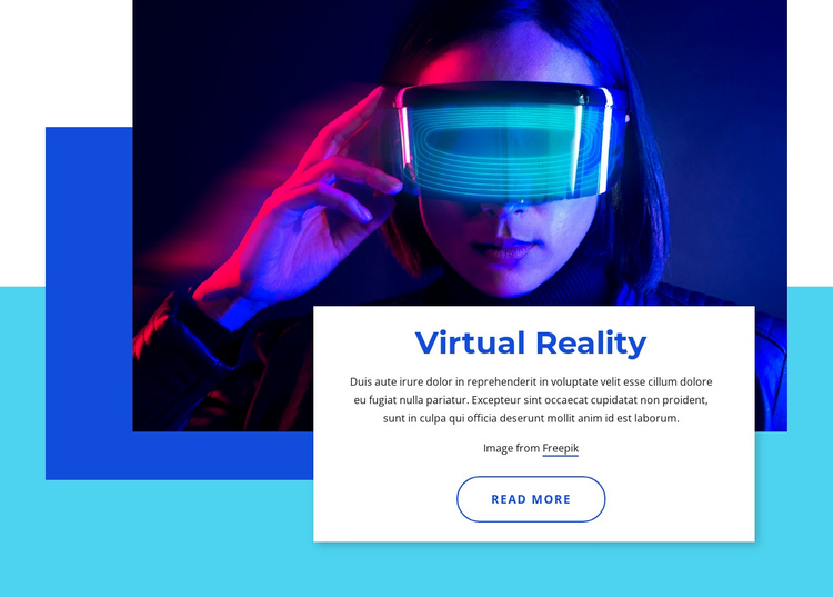 Virtual reality 2021 One Page Template