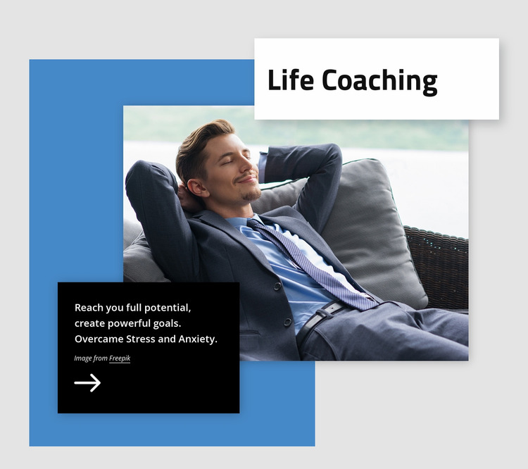 Create powerful goals Website Mockup