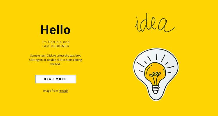 Freelance web designer Website Mockup