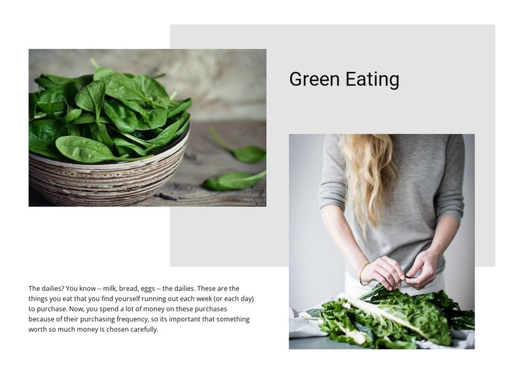 Top green eating tips HTML Template