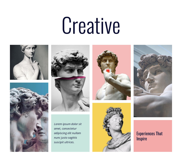 Creative design process One Page Template