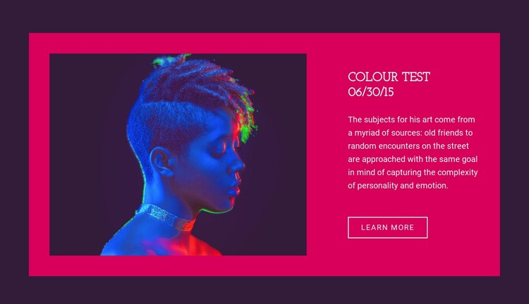 Colour test Html Code Example