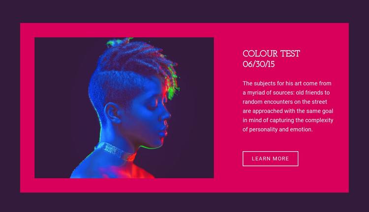 Colour test Website Template