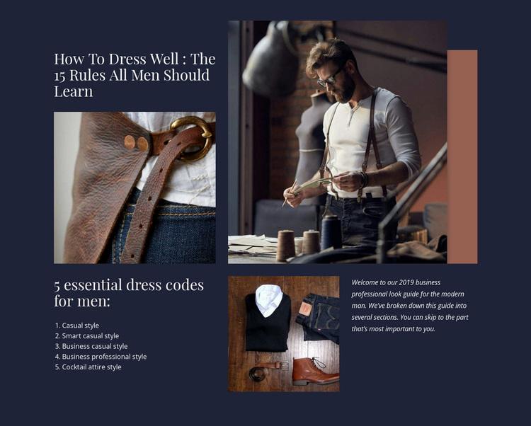 Modern fashion trends Website Design