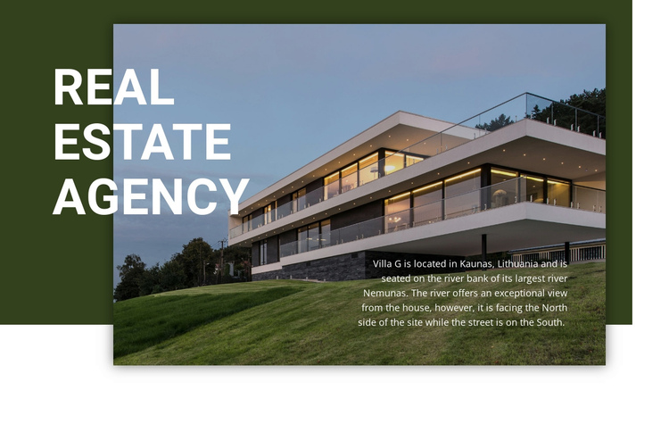 Highly trusted local agency One Page Template