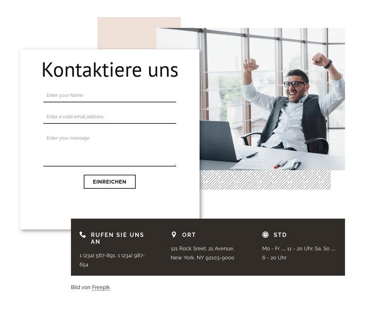 Kontakt mit der Markenagentur Website-Vorlage