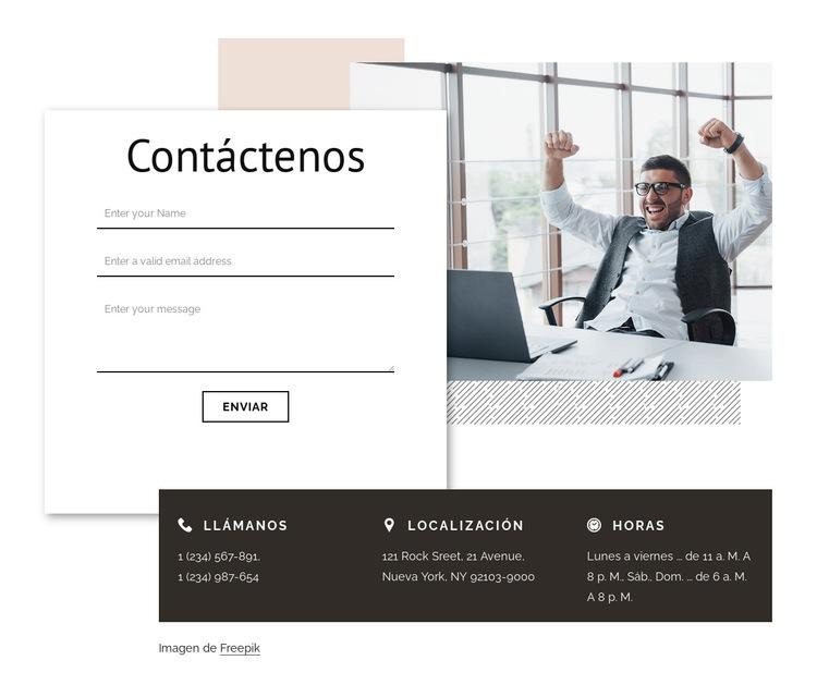 Contacto con agencia de branding Plantilla de sitio web