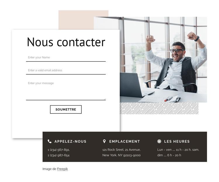 Contact avec l'agence de branding Modèle de site Web