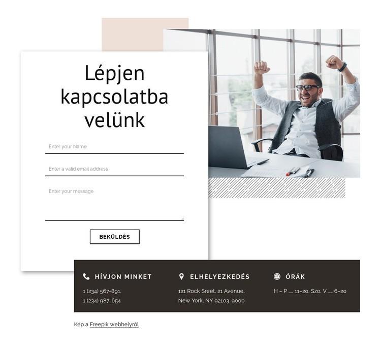 Vegye fel a kapcsolatot a márkaügynökséggel Weboldal sablon