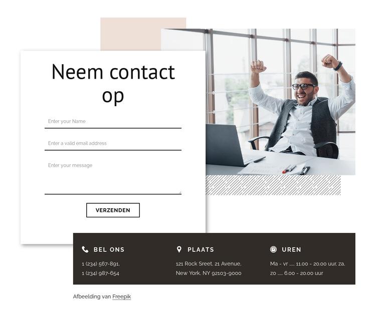 Contact met branding bureau Website sjabloon