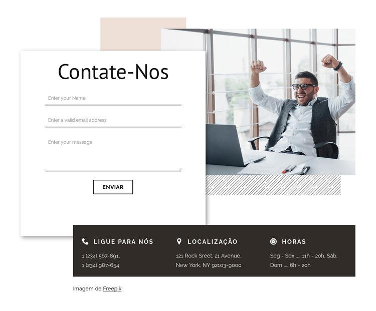 Contato com agência de branding Modelo de site