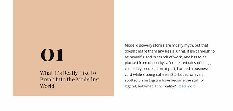 Break modeling world Web Page Design