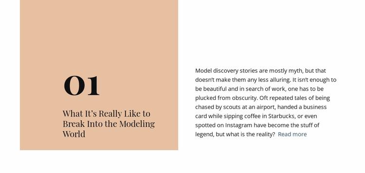 Break modeling world Landing Page