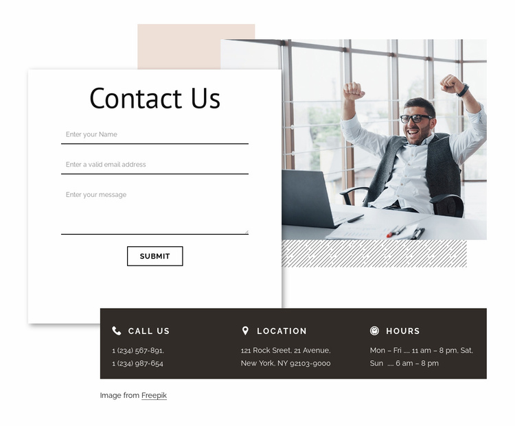 Contact with branding agency Website Template