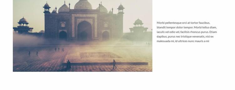 Travel in Mosque Website Template