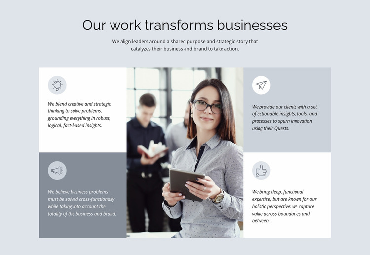 Legendary consulting firm Website Mockup
