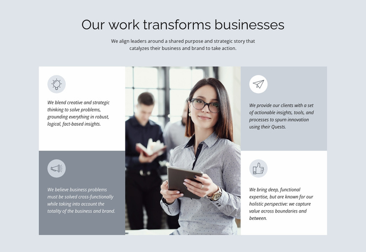 Legendary consulting firm Website Template