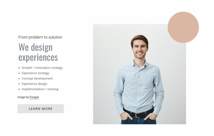UI design agency Website Template