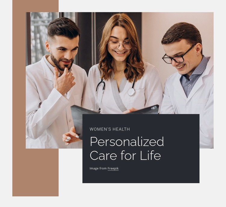 Personalized care of ife Html Code Example
