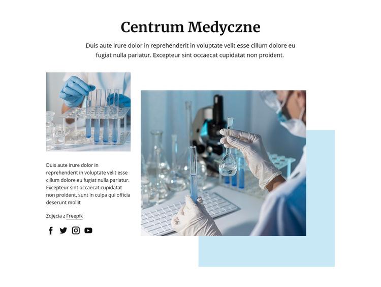 Technolodzy laboratorium medycznego Szablon witryny sieci Web