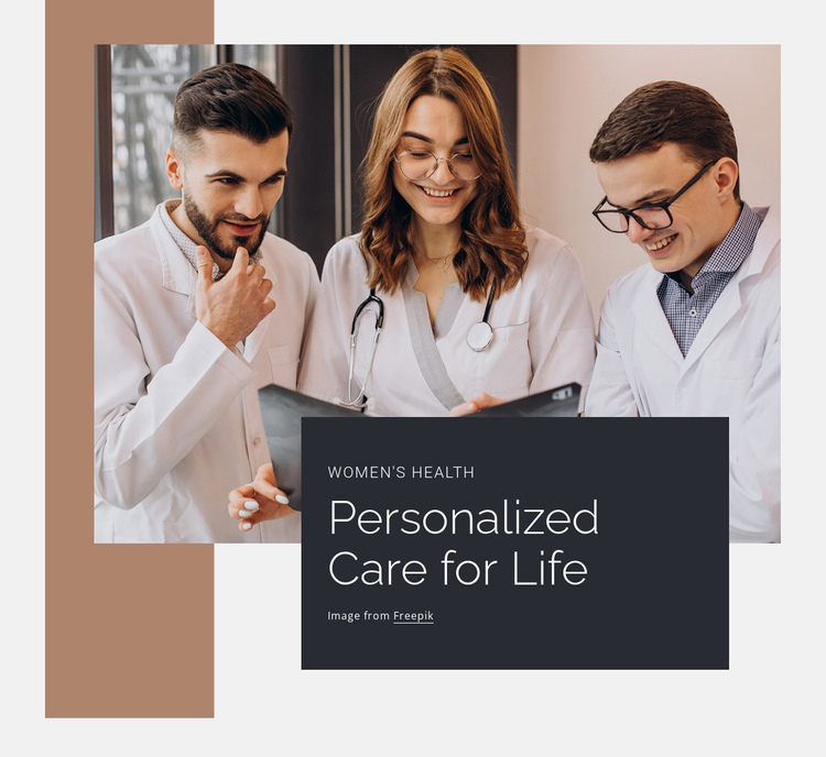 Personalized care of ife Website Builder Software