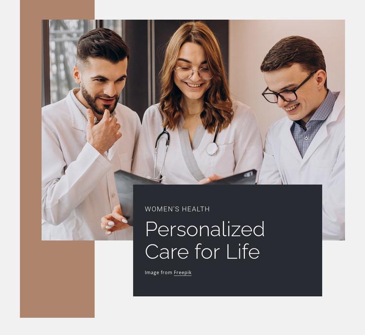 Personalized care of ife Website Design
