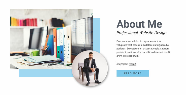 Professional web design Website Mockup