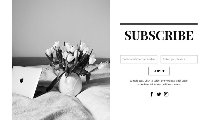 Write if you are interested HTML Template