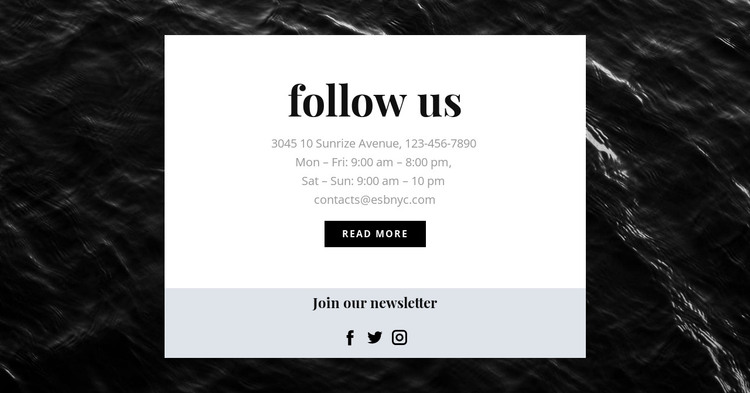 We are on all social networks HTML Template