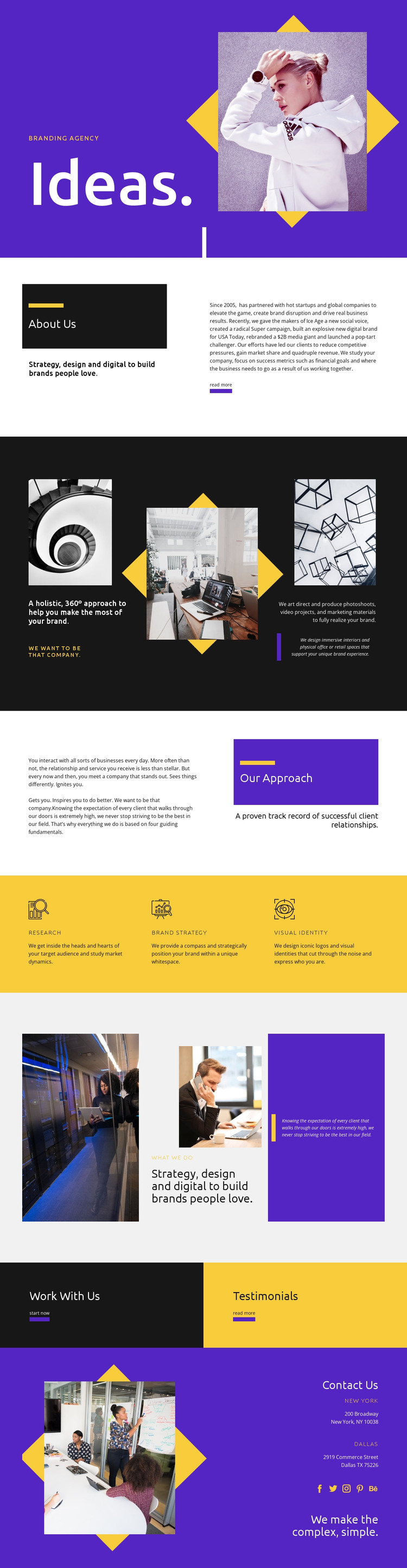New for your development HTML Template