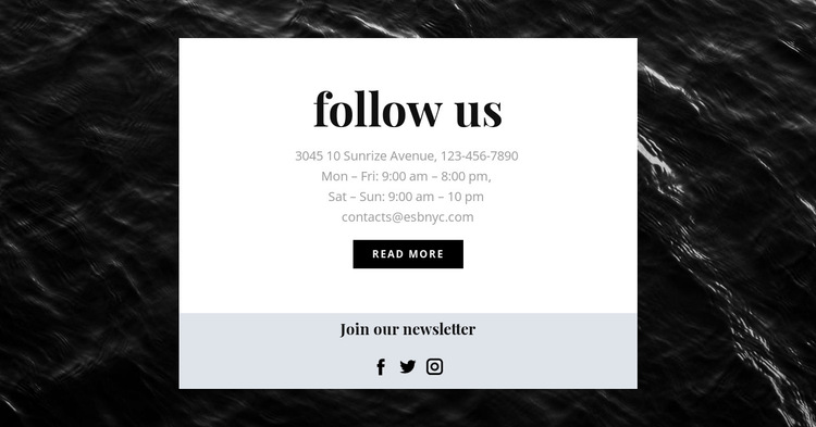 We are on all social networks HTML5 Template