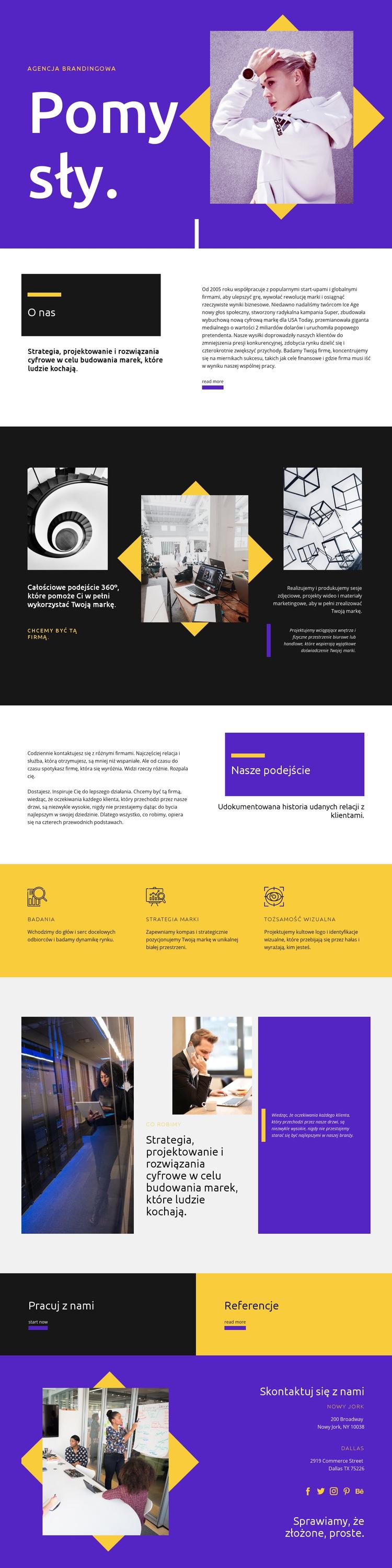Nowość dla Twojego rozwoju Szablon witryny sieci Web