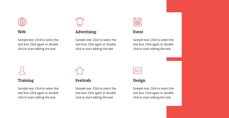 Areas of work WordPress Theme