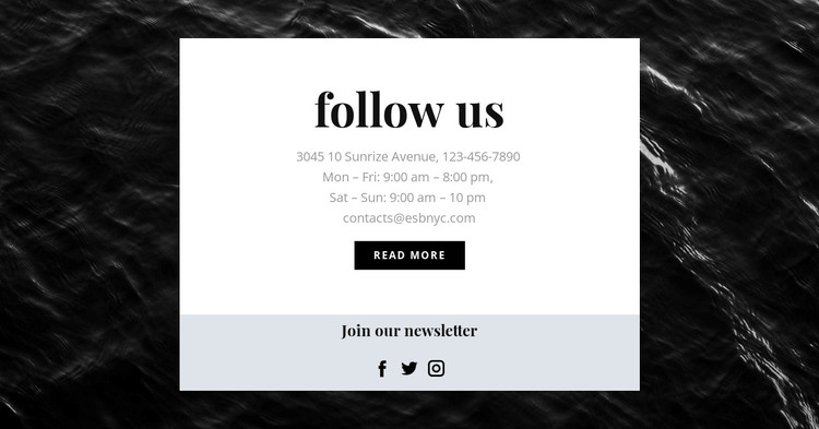We are on all social networks Woocommerce Theme