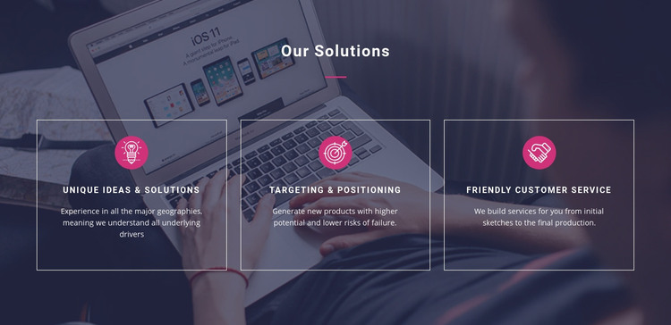 Unique ideas and solutions Homepage Design