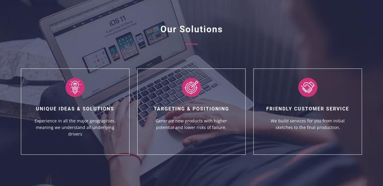 Unique ideas and solutions Html Website Builder
