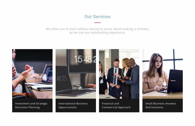 Development company services Landing Page