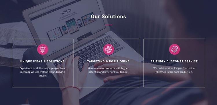 Unique ideas and solutions WordPress Website