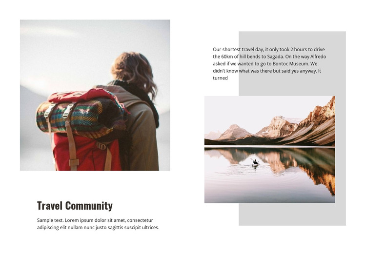 Travel Community HTML Template
