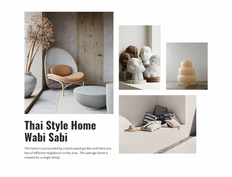 Thai style home Landing Page