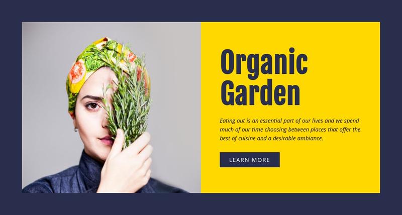 Organic Garden Web Page Design