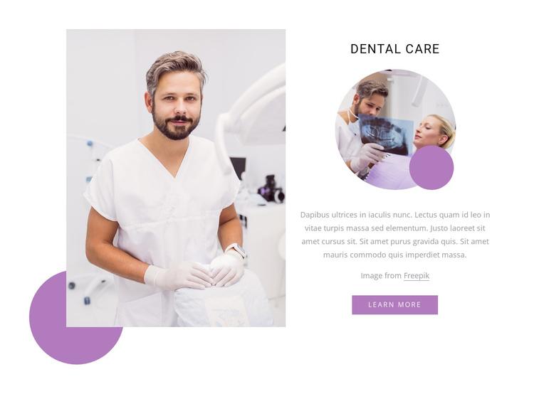 Luxury dental care Website Builder Software